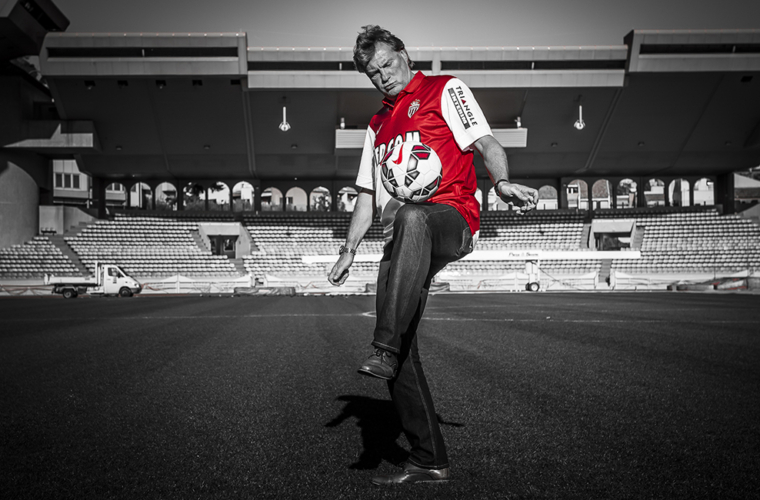 L'AS Monaco avec Glenn Hoddle
