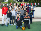 Two Red and Whites visit Fontvieille Elementary School