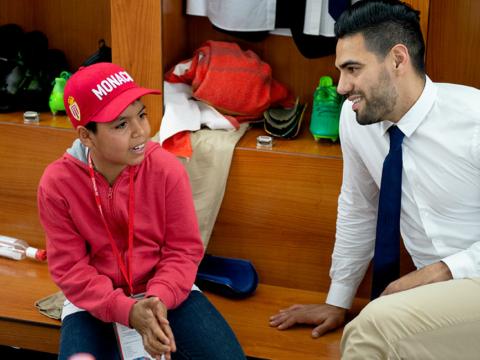 Le rêve éveillé de Camilo avec son idole Falcao !