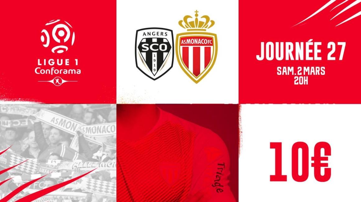 Information billetterie Angers - AS Monaco