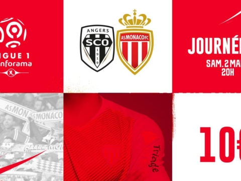 Information billetterie Angers - AS Monaco
