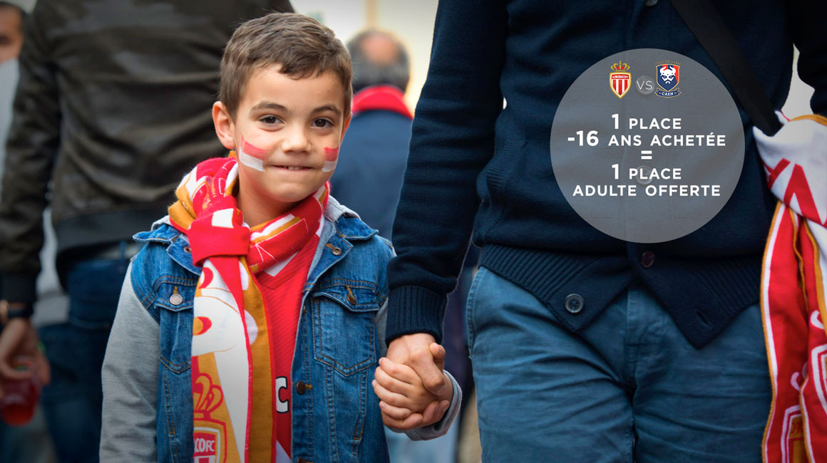 AS Monaco - SM Caen : <br>Les enfants invitent les parents