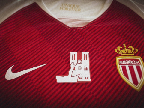AS Monaco go to Paris with a jersey in tribute to Notre Dame