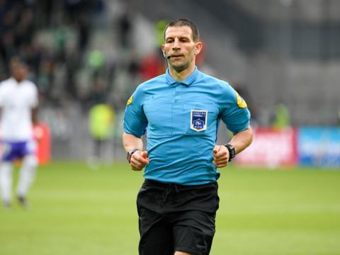 Jérémy Stinat arbitre de FC Metz - AS Monaco