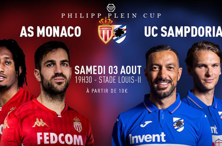 Mónaco enfrentará a Sampdoria en la 1ª edición de la Copa Philipp Plein
