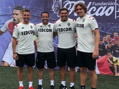 Giuly and Givet in Colombia for the Falcao Foundation and the Lets' Play Association