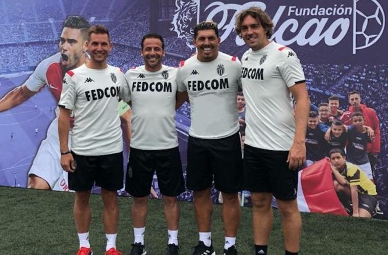 Жюли и Живе поддержали фонд Фалькао и общество « Lets' Play »