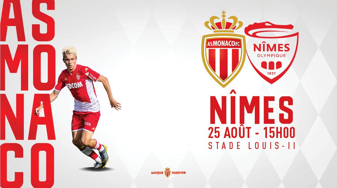 Vos places en ligne pour AS Monaco - Nîmes Olympique