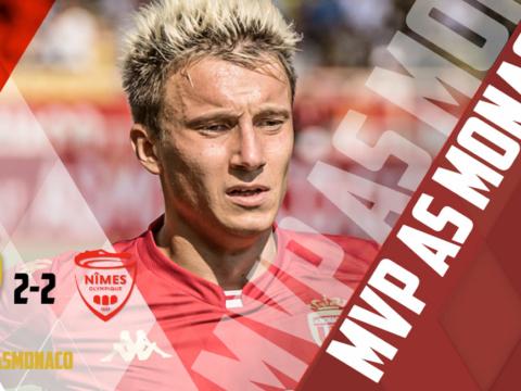 Aleksandr Golovin fue elegido como MVP de AS Monaco vs. Nîmes
