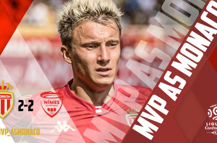 Aleksandr Golovin MVP de AS Monaco - Nîmes