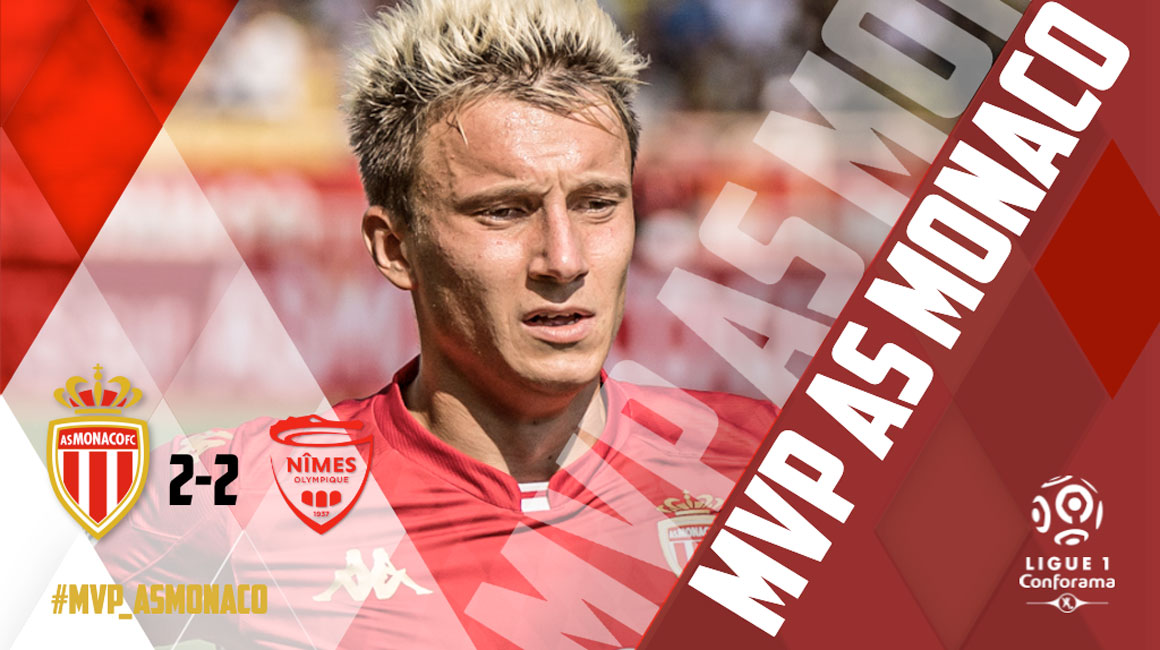 Aleksandr Golovin MVP of AS Monaco - Nîmes