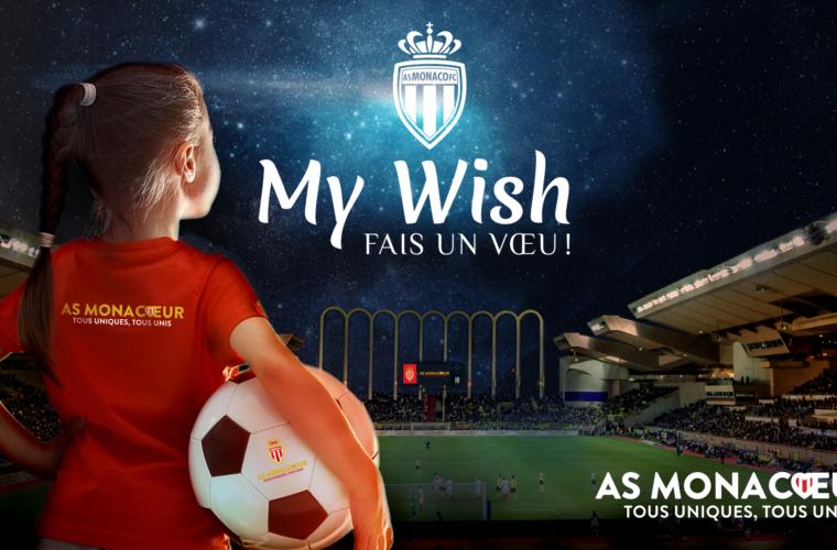AS Monacœur Laucnhes the MyWish campaign
