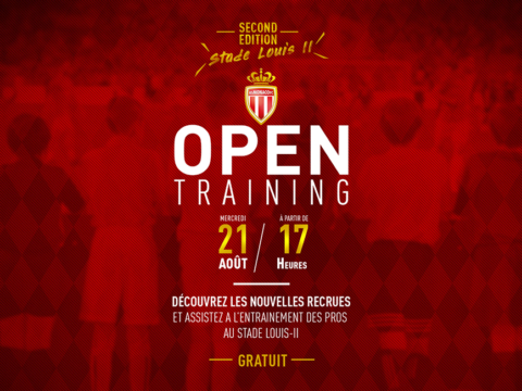 Open Training at Louis-II Stadium Wednesday