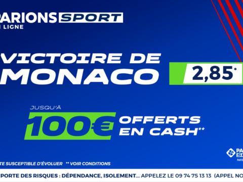 100€ offerts en cash sur Parions Sport en ligne !