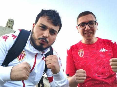Walid et Lotfi au coup d'envoi