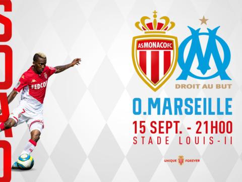 AS Monaco - OM : places disponibles en ligne ou au guichets