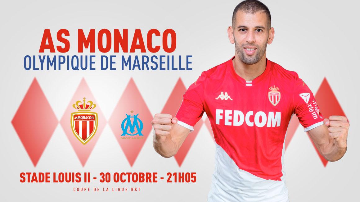 Vos place en ligne pour AS Monaco - OM