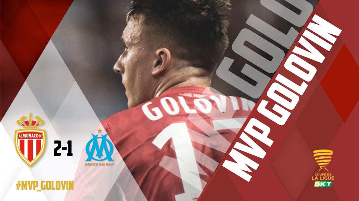 Aleksandr Golovin élu MVP de AS Monaco - OM