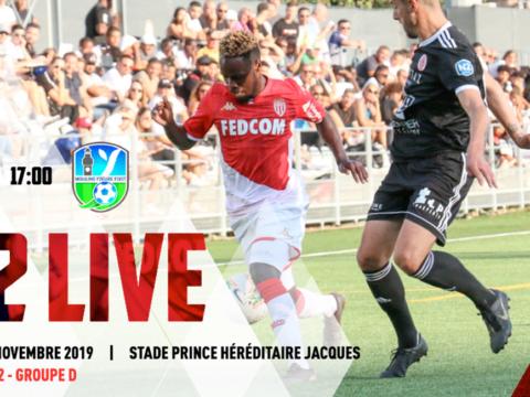 (N2) AS Monaco - Moulins-Yzeure en live à 17h