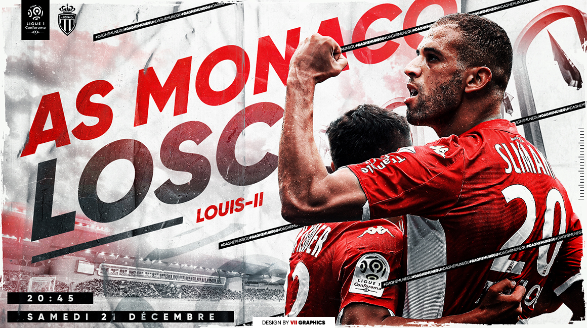 Vos places en ligne pour AS Monaco - LOSC