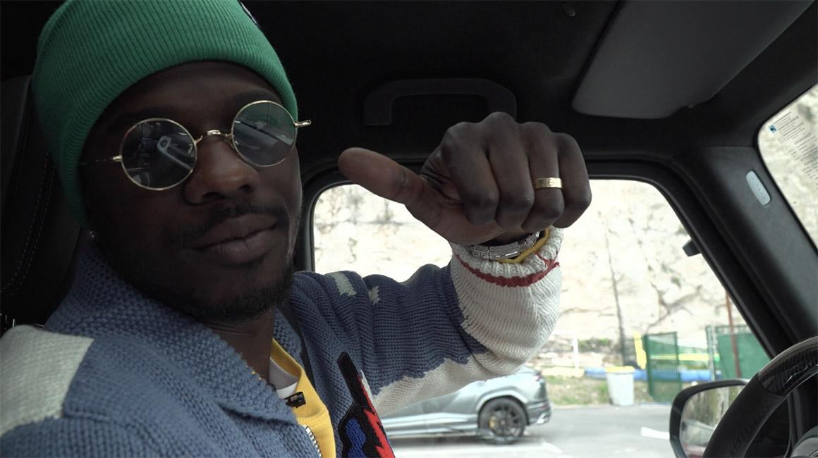 En voiture avec Keita Baldé