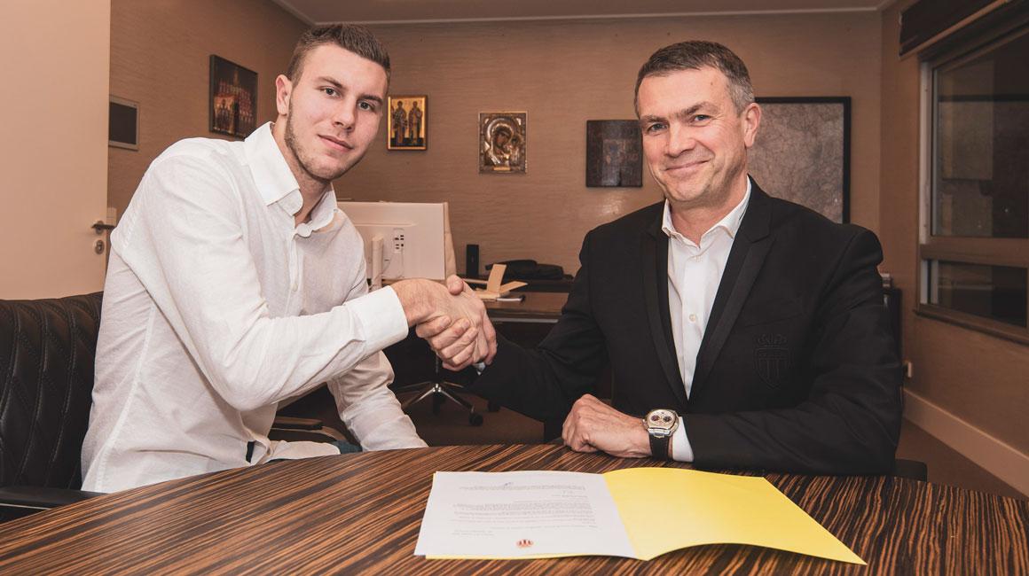 Strahinja Pavlovic signs with Monaco