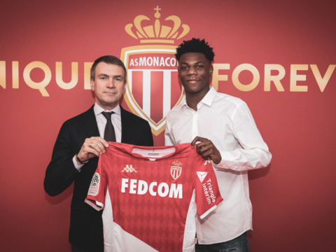 Aurélien Tchouaméni no AS Monaco