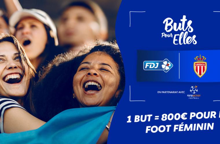 L'AS Monaco et la FDJ, en faveur du football féminin !