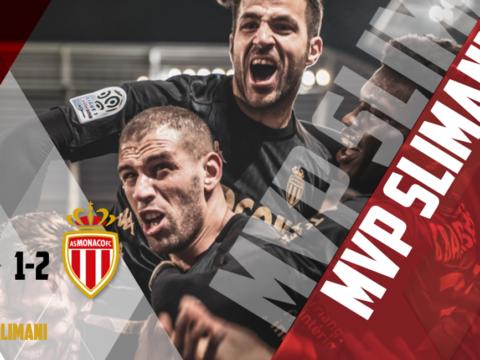 Islam Slimani, el MVP contra Amiens SC