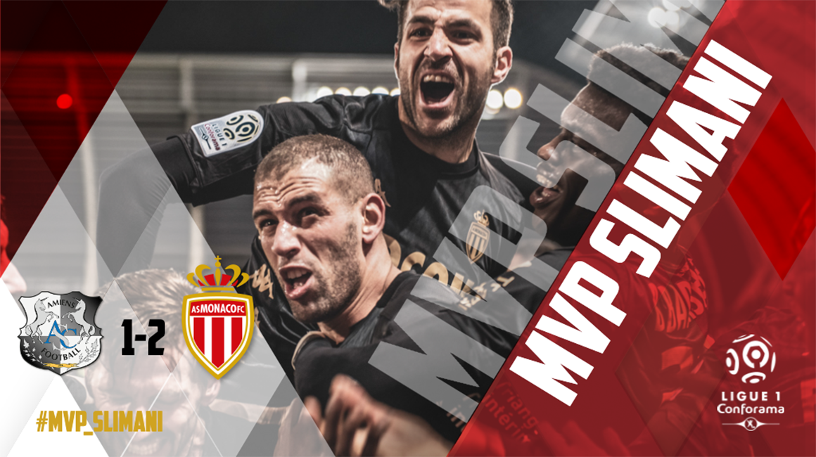 Islam Slimani MVP face à Amiens SC
