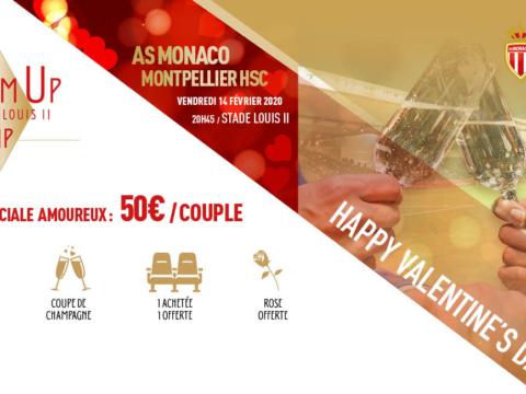 Fêtez la Saint-Valentin au Stade Louis-II !