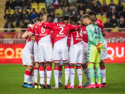 Le groupe de l'AS Monaco pour le derby