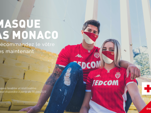 Des masques de protection aux couleurs de l'AS Monaco