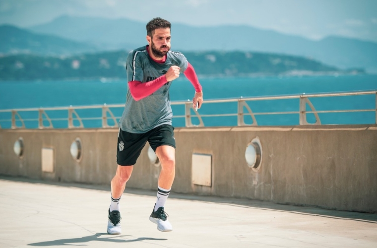 Cesc Fabregas training in Monaco