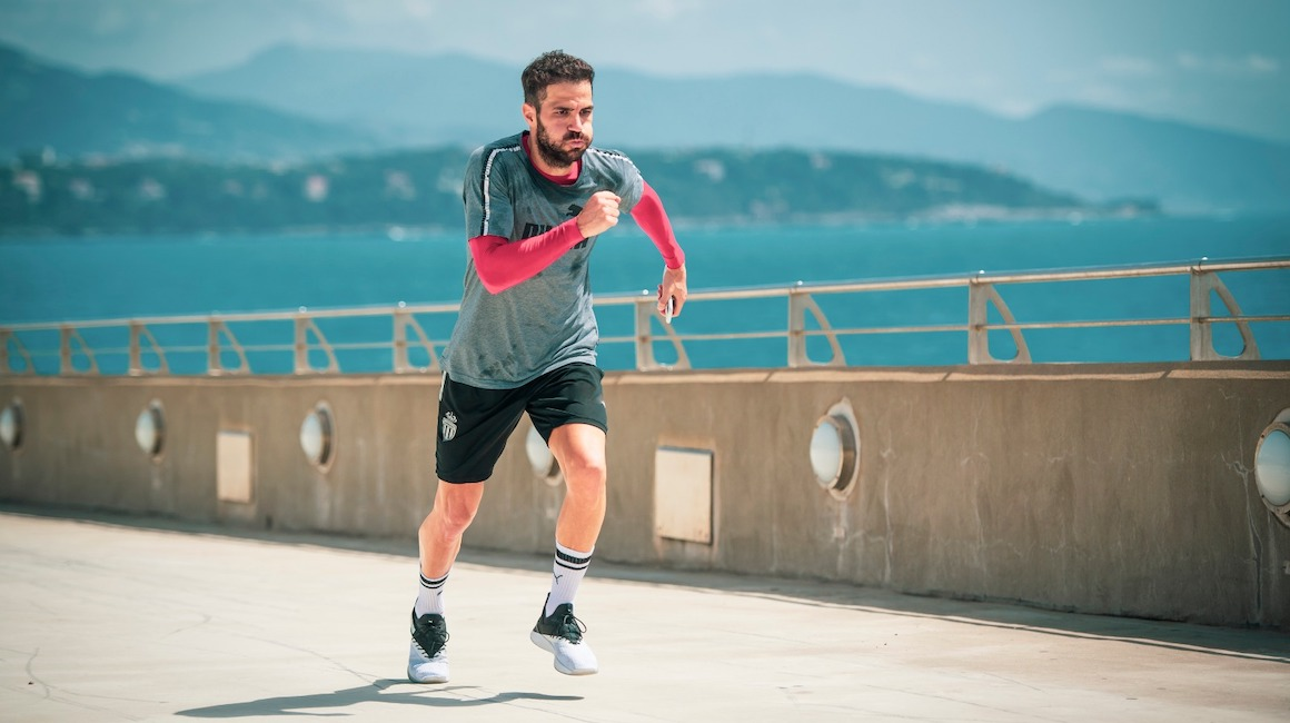 Training in Monaco with Cesc Fàbregas
