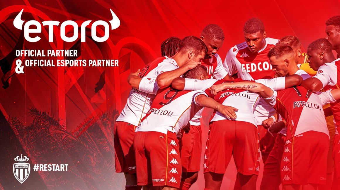 eToro, nouveau partenaire de l'AS Monaco