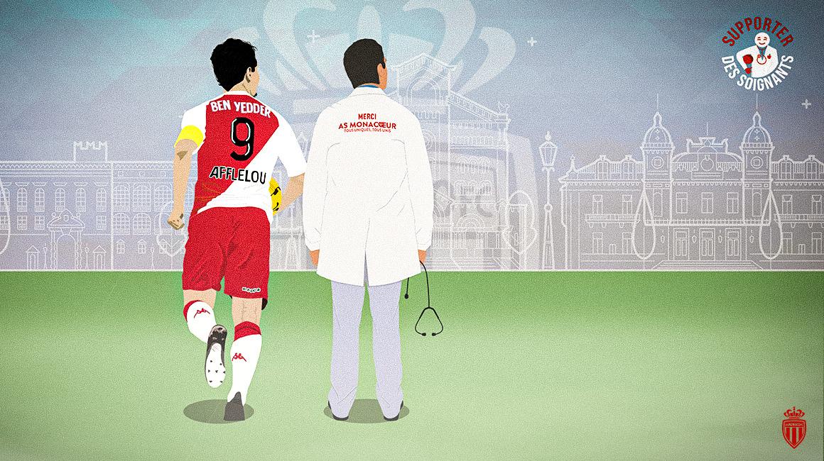 L'AS Monaco mobilisé pour les soignants