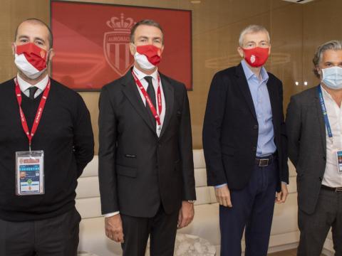 Le Président Dmitry Rybolovlev félicite Vincent Labrune