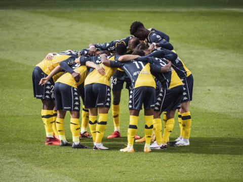 Le groupe de l'AS Monaco pour Lyon