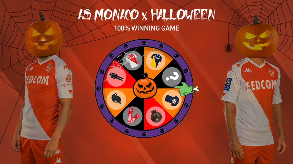 It's 100% to win on our Halloween Wheel of Fortune!