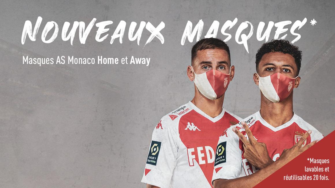 L'AS Monaco lance deux nouveaux masques Home et Away
