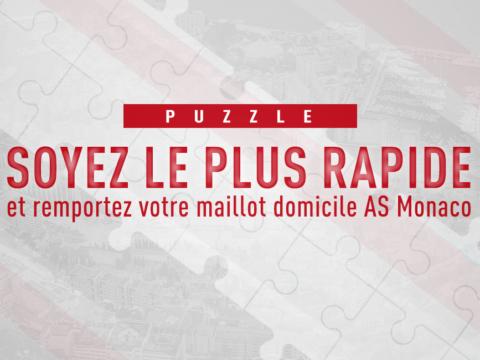 Un maillot à gagner en recomposant le puzzle du Stade Louis-II