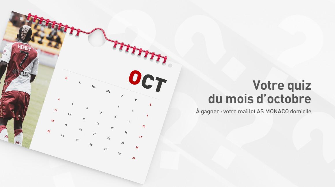 Le quiz du mois d'octobre