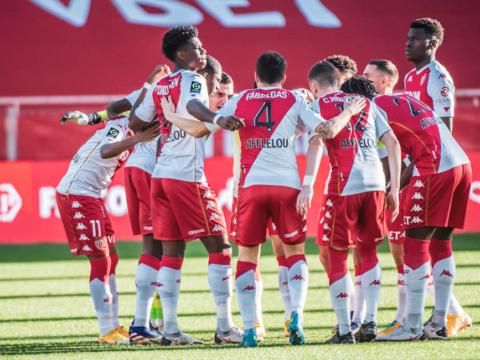 Le groupe de l'AS Monaco pour Lille