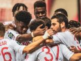 Le groupe de l'AS Monaco pour Marseille