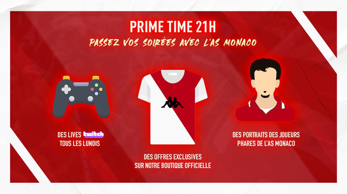 "L'AS Monaco se met en mode ""Prime Time"""