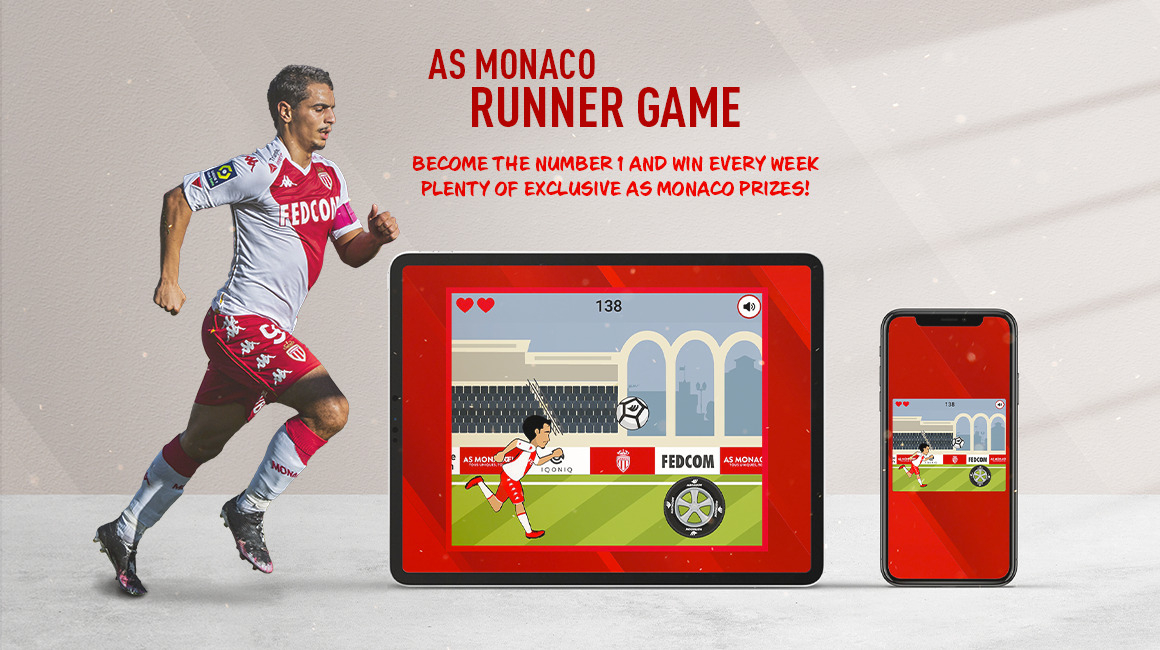 Play the AS Monaco Runner Game