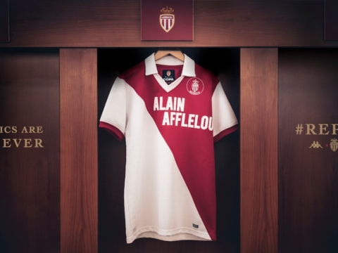 A historic  limited edition AS Monaco jersey