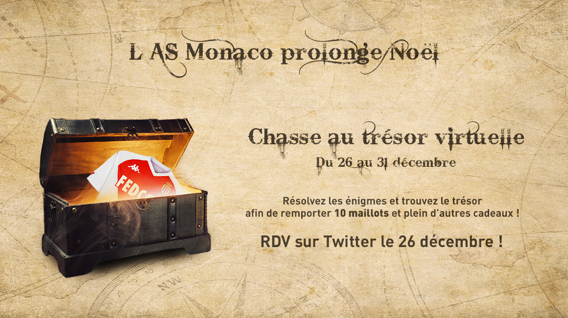 La chasse au trésor Noël 2020 de l'AS Monaco est ouverte