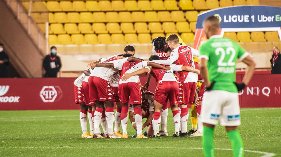 Le groupe de l'AS Monaco pour le déplacement à Saint-Étienne